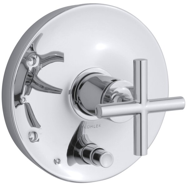 Purist Rite-Temp Pressure-Balancing Valve Trim with Cross Handles by Kohler