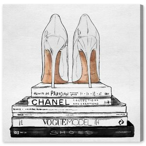 'Sandalone Shoes' Graphic Art Print on Wrapped Canvas by Willa Arlo Interiors