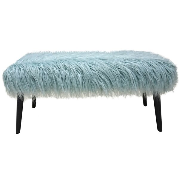 Areli Faux Fur Bench by House of Hampton House of Hampton
