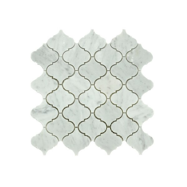 Jasmine Random Sized Marble Mosaic Tile in Gray by A Touch of Design