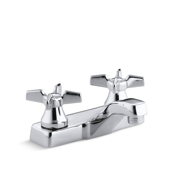 Triton Centerset Commercial Bathroom Sink Faucet, Requires Handles, Drain Not Included by Kohler