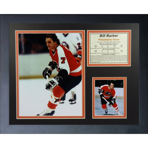 Bill Barber - Philadelphia Flyers Framed Memorabilia by Legends Never Die