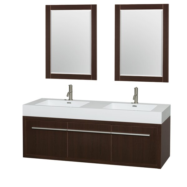 Axa 60 Double Espresso Bathroom Vanity Set with Mirror by Wyndham Collection