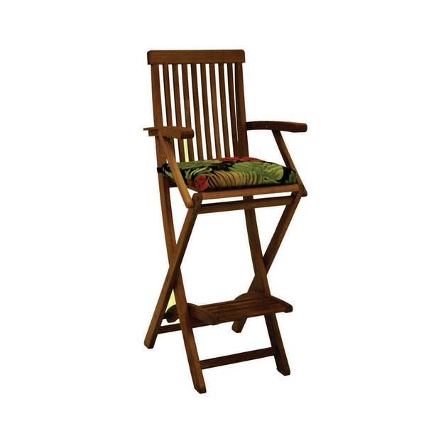 Indoor/Outdoor Barstool Cushion (Set of 2) by Blazing Needles