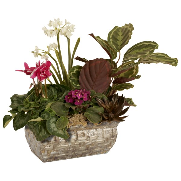 Glen Ellyn Geometric Metal Planter Box by Bloomsbury Market