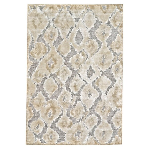 Ledesma Pewter/Brown Area Rug by World Menagerie