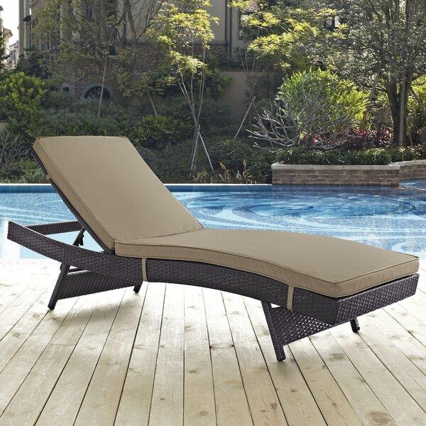 Ryele Reclining Chaise Lounge with Cushion by Latitude Run