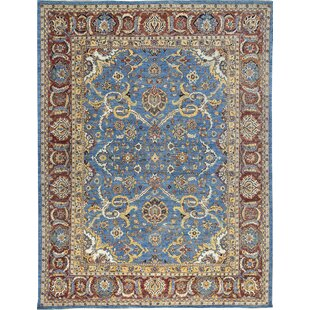 One-of-a-Kind Sultanabad Hand-Knotted Wool Blue/Red Indoor Area Rug By Bokara Rug Co., Inc.