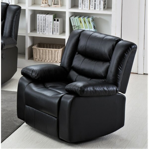 Haskins 3-Way Leather Manual Recliner By Red Barrel Studio