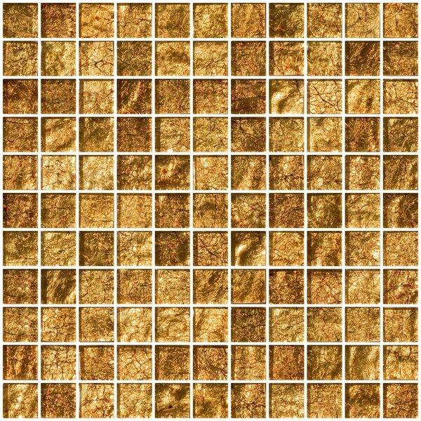 1 x 1 Glass Mosaic Tile in Golden Rust by Susan Jablon