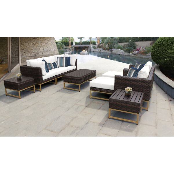 Barcelona 10 Piece Sectional Seating Group with Cushions by TK Classics
