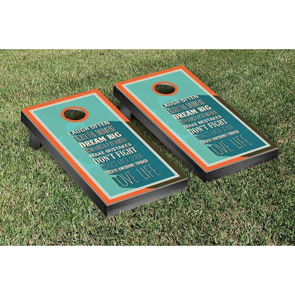 Family Rules Cornhole Game Set by Victory Tailgate