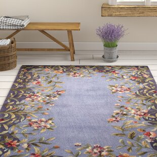 Veronique Garden Hand-Tufted Wool Lavender/Green Area Rug by August Grove