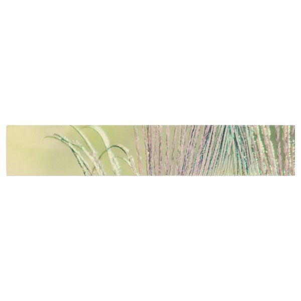 Beth Engel Sun Kissed Peacock Feather Table Runner by East Urban Home