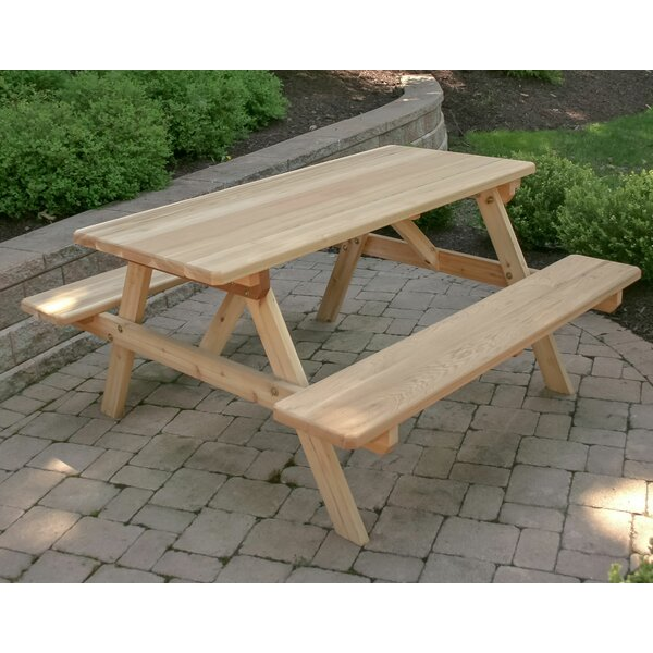 Fraizer Picnic Table by August Grove