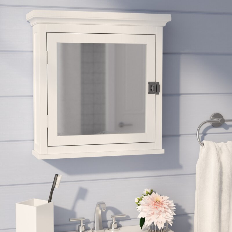 Beachcrest home sumter surface mount medicine cabinet for Bathroom cabinets reviews