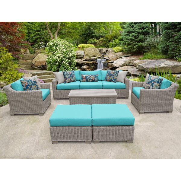 Claire 8 Piece Sofa Seating Group With Cushions By Rosecliff Heights