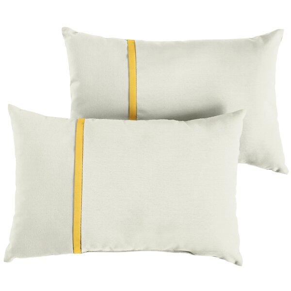 Fontenot Indoor/Outdoor Sunbrella Lumbar Pillow (Set of 2) by Charlton Home