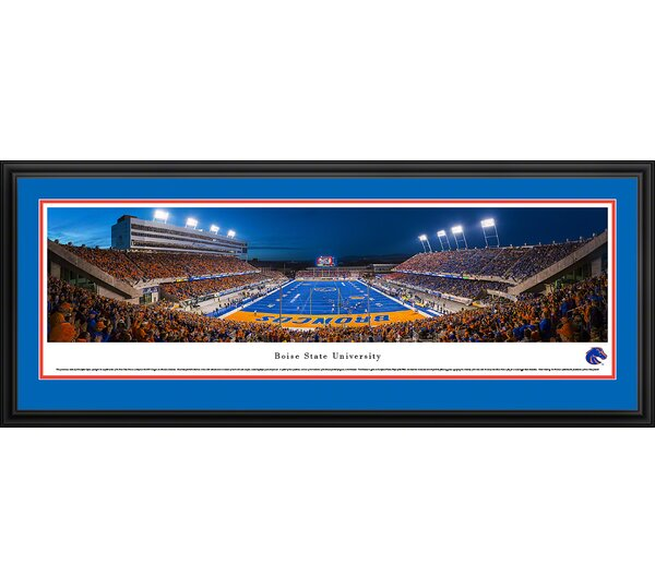 NCAA Boise State University - End Zone by Christopher Gjevre Framed Photographic Print by Blakeway Worldwide Panoramas, Inc