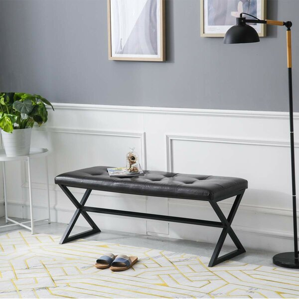 Atchley Faux Leather Bench By Gracie Oaks