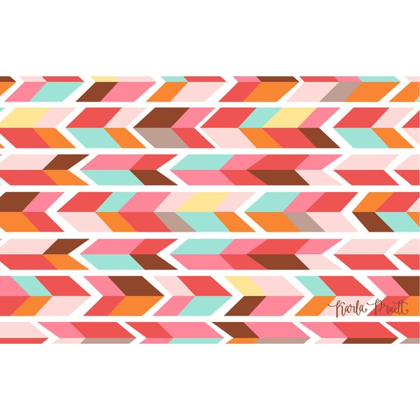 Arrowhead Pink/Blue Chevron Area Rug by Manual Woodworkers & Weavers