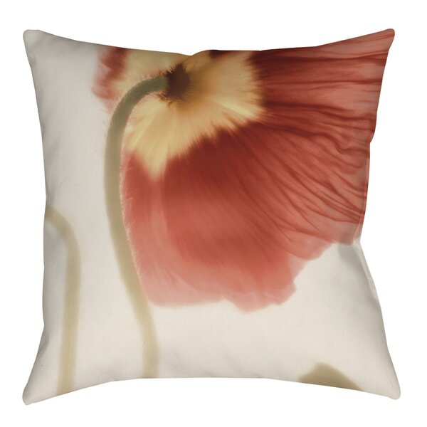 Mystic Poppy 2 Indoor/Outdoor Throw Pillow by Manual Woodworkers & Weavers