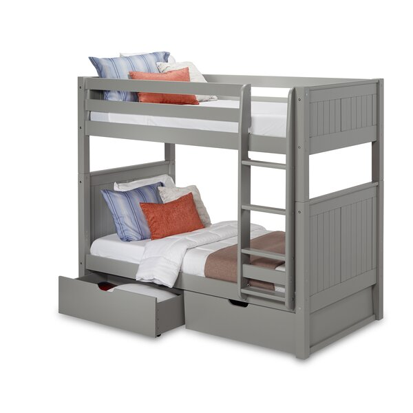 Rabon Twin Over Twin Bunk Bed with Drawers by Harriet Bee