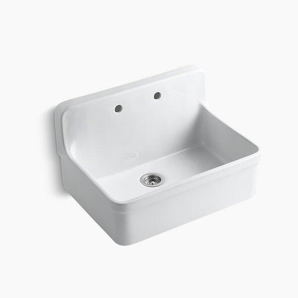 Gilford 30 x 22 x 9-1/2 Wall-Mount/Top-Mount Single-Bowl Kitchen Sink by Kohler