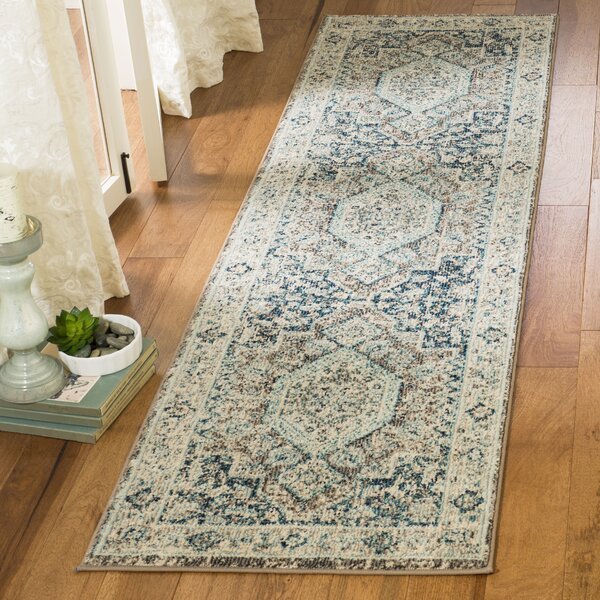 Dostie Gray/Blue Area Rug by Bungalow Rose