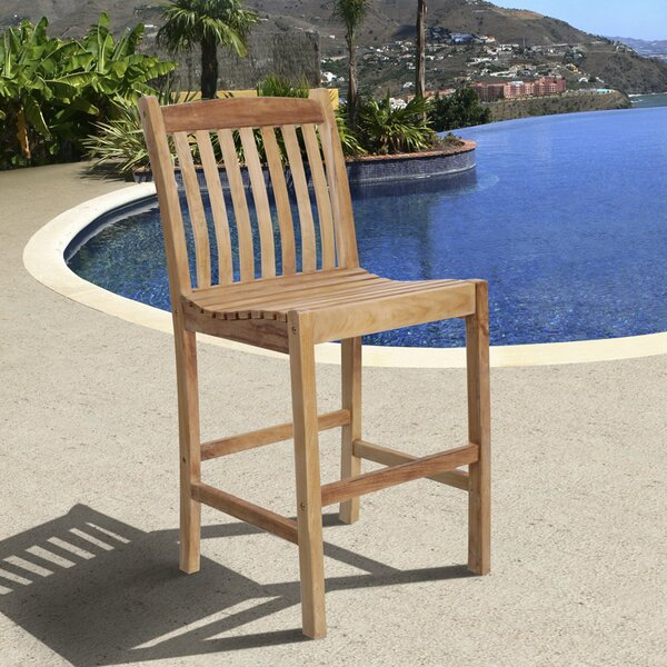 Elsmere 28 Patio Bar Stool by Beachcrest Home