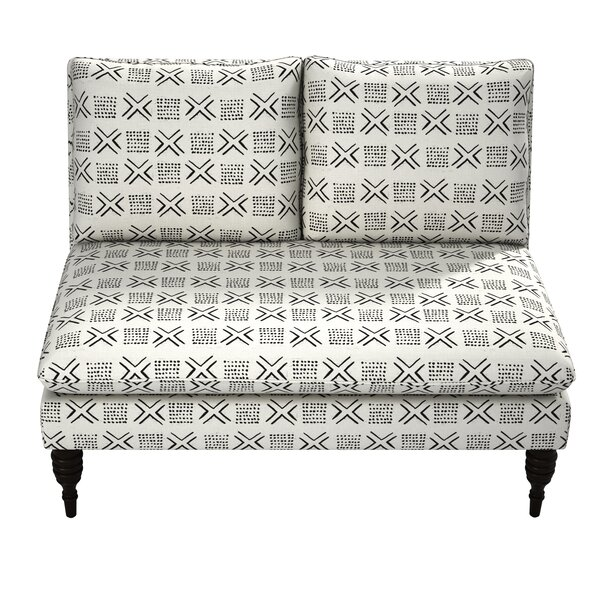 Ilana Armless Love Seat by Bungalow Rose