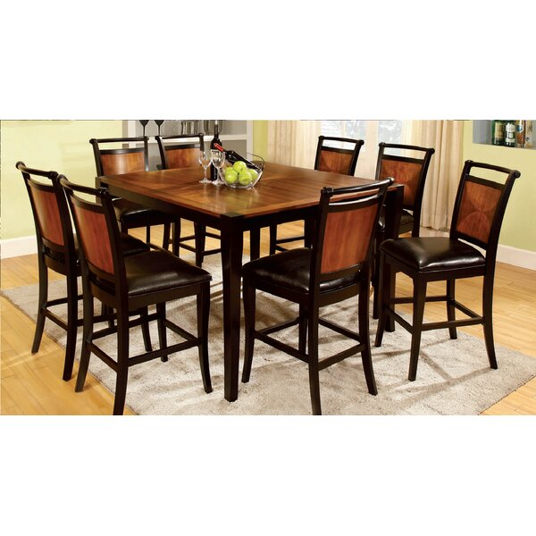 Woolum Counter Height Solid Wood Dining Table