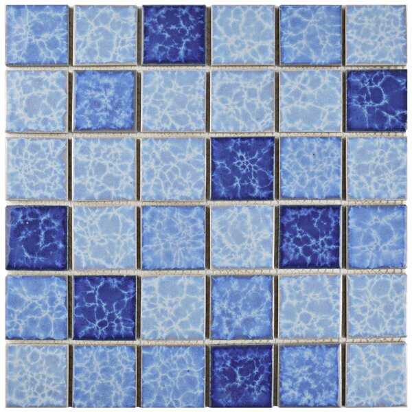 Waterfall 2 x 2 Porcelain Mosaic Tile in Aegean by EliteTile