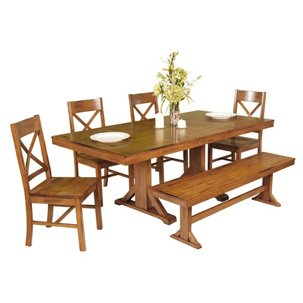 Faulkner 6 Piece Extendable Breakfast Nook Dining Set by Home Loft Concepts