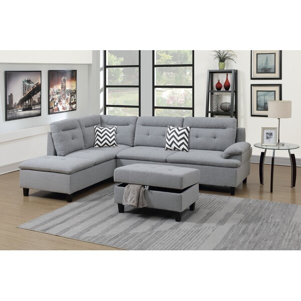 Cravens Left Hand Facing Sectional With Ottoman By Ebern Designs