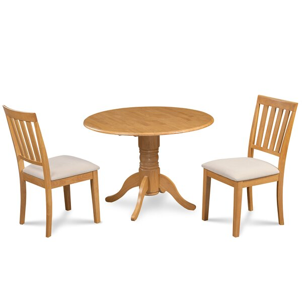 Chesterton 3 Piece Solid Wood Dining Set by Alcott Hill