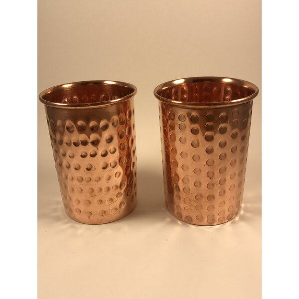 Oliveira 12 oz. Copper Moscow Mule Mug (Set of 2) by Ebern Designs