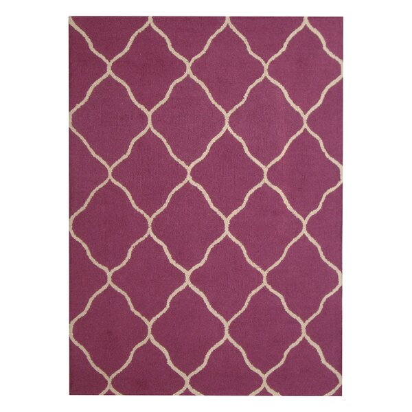 Hand-Tufted Purple/Beige Indoor Area Rug by Herat Oriental