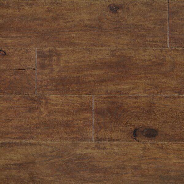 Rock Creek Plank 6-1/3 Engineered Oak Hardwood Flooring in Fox by Mannington