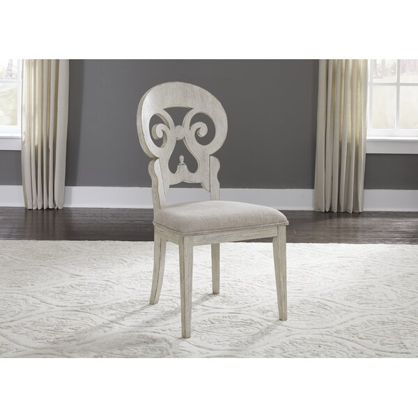 Konen Splat Back Upholstered Dining Chair (Set of 2) by Ophelia & Co.