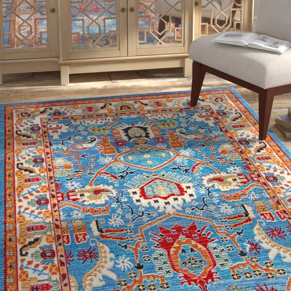Chairez Blue Area Rug by Bungalow Rose