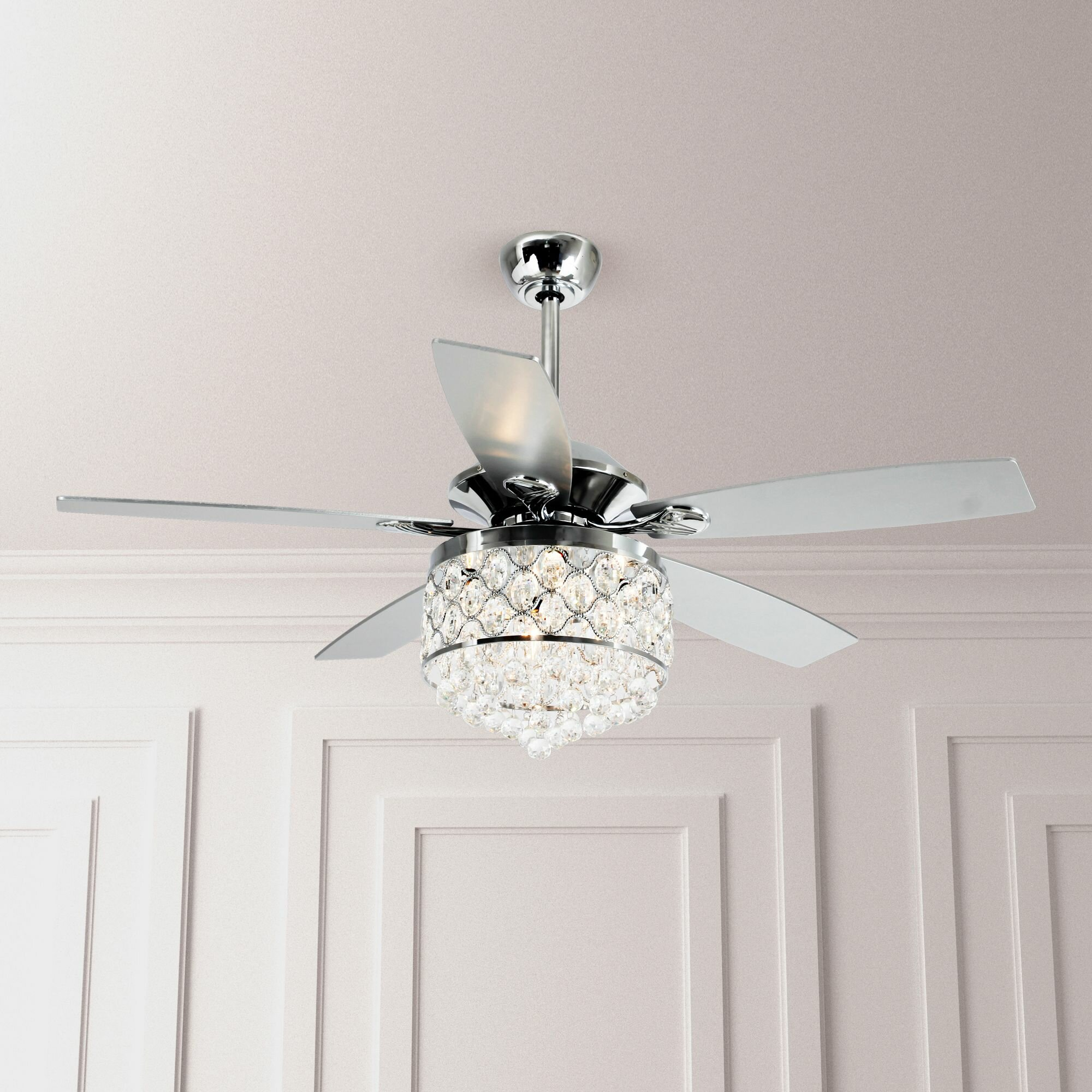 Ceiling Fans Home Garden 52 Remote Control Crystal Chandelier Ceiling Fan Lights 5 Blade Pendant Light Topografiapv Cl