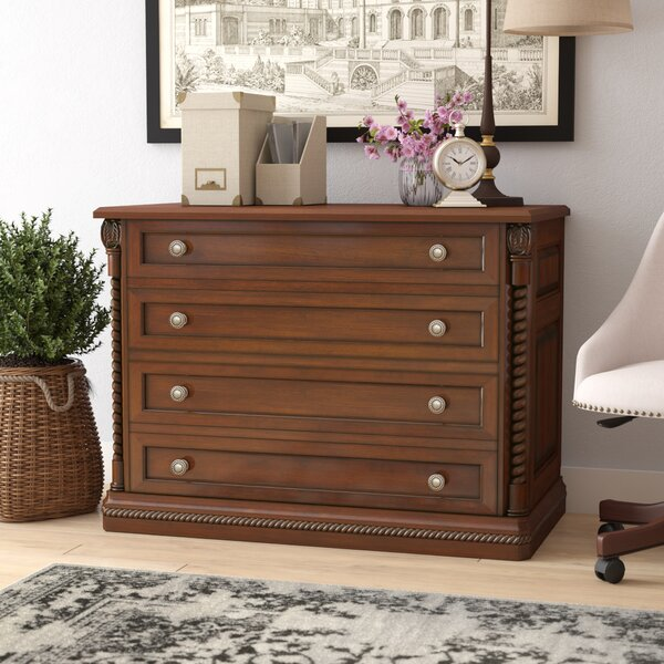 Ardnaglass Traditional 4-Drawer Lateral filing cabinet by Darby Home Co