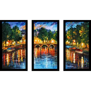 Amsterdam, The Release of Happiness by Leonid Afremov 3 Piece Framed Painting Print Set by Picture Perfect International