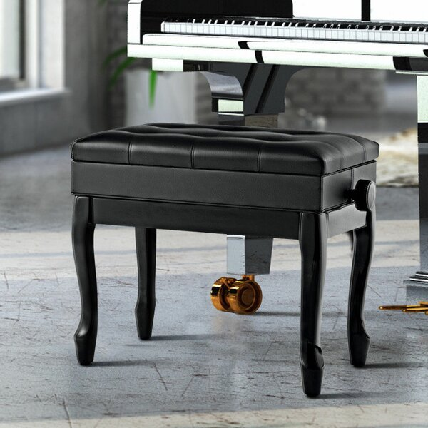Cirebon Height Adjustable Upholstered Storage Piano Bench by Winston Porter