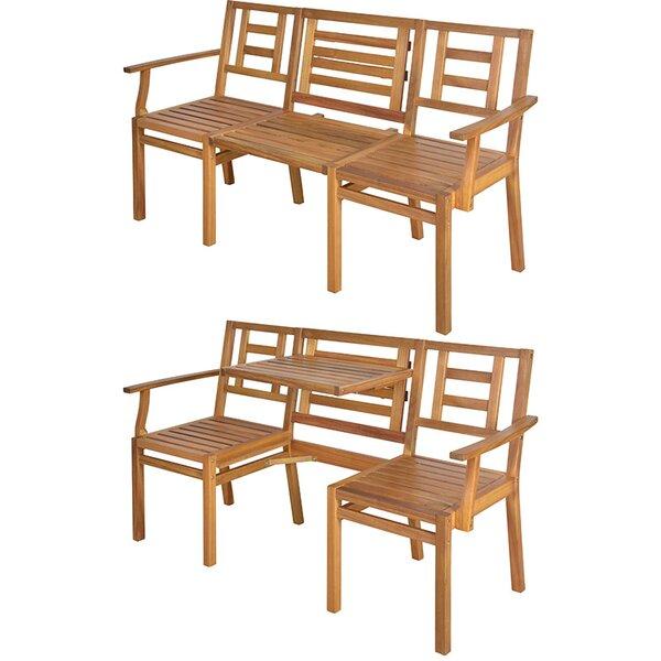 My Balconia Wooden Chat Bench by EsschertDesign