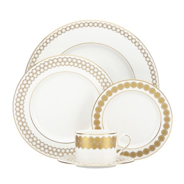 Prismatic 5 Piece Bone China Place Setting, Service for 1 by Lenox