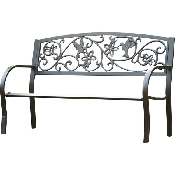 Hummingbird Metal Garden Bench by Plow & Hearth
