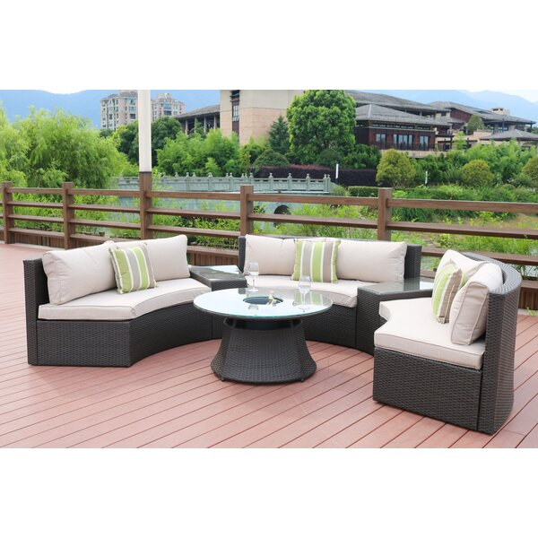 Mickens 6 Piece Rattan Sofa Seating Group with Cushions by Latitude Run