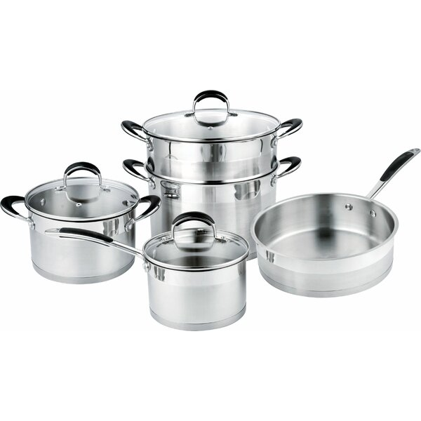 8-Piece Stainless Steel Cookware Set by Prime Cook